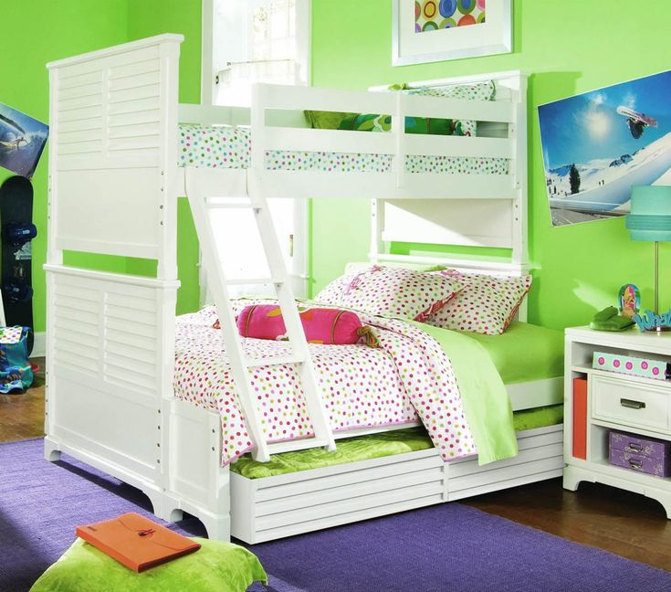 girls bunk beds only they have twin over twin u0026 trundle