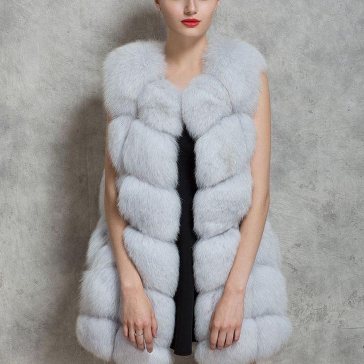 2016新しい女性冬ノースリーブフェイクフォックス毛皮の革厚いコート上着ベストプラスサイズパッド入りジャケットオーバーパーカQ1778