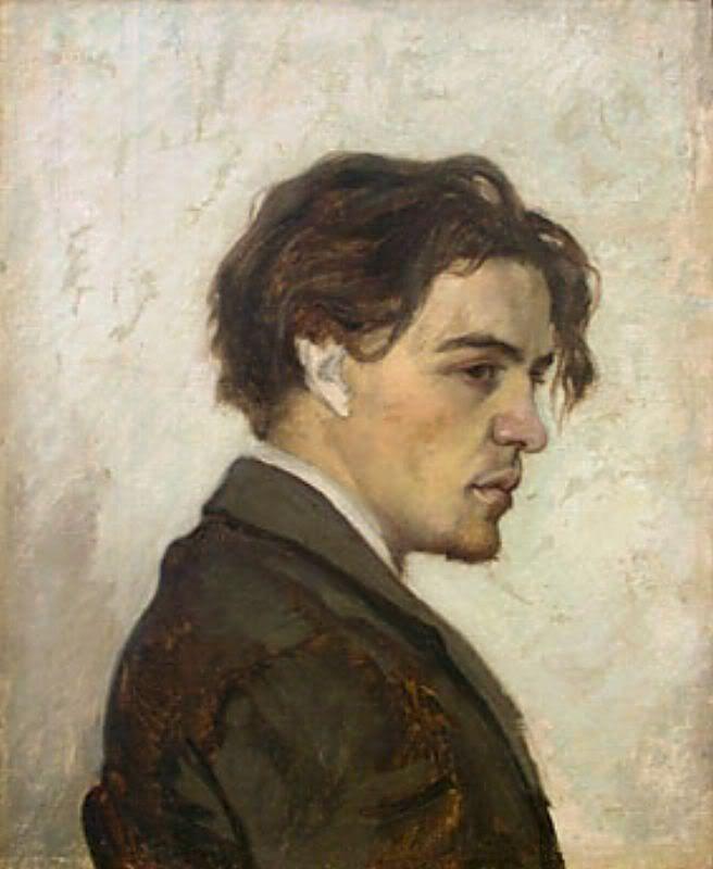 A portrait of writer Anton Chekhov (1860-1904) by his brother Nikolay Chekhov.