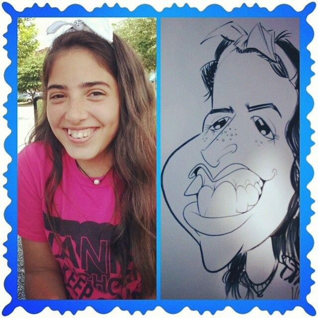 Live caricature I did at Suwanee Park #caricature #livesketching #exaggerated #funny #draw #likeness #teenager #drawoftheday #instadraw