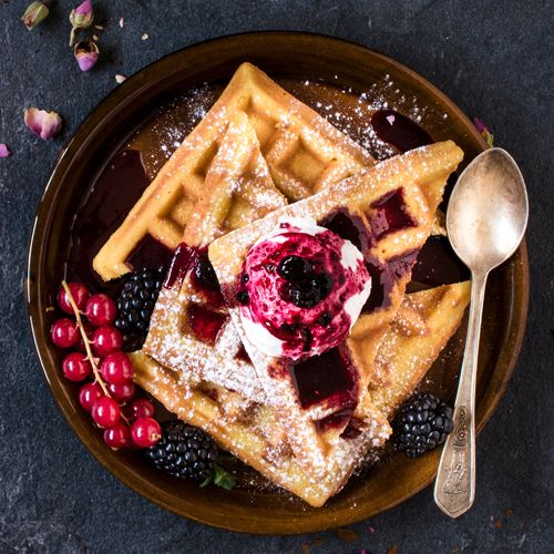 Waffles are perfect for breakfast or dessert. Our version is made with coconut…
