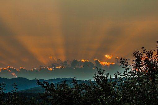 Nebe, Západ Slunce, Priroda