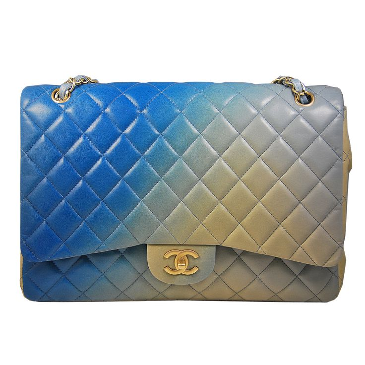 Chanel Väskor Vintage : Chanel rare lambskin ombr? quot classic bag