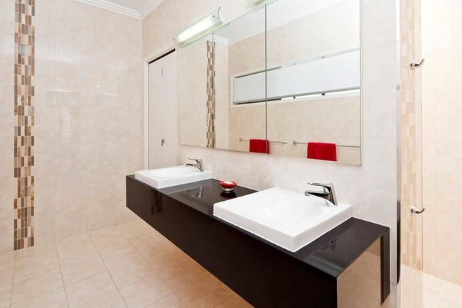 Gold Coast Unique Homes build quality prestige homes. #luxuryhomes #bathroom #basin #tiles