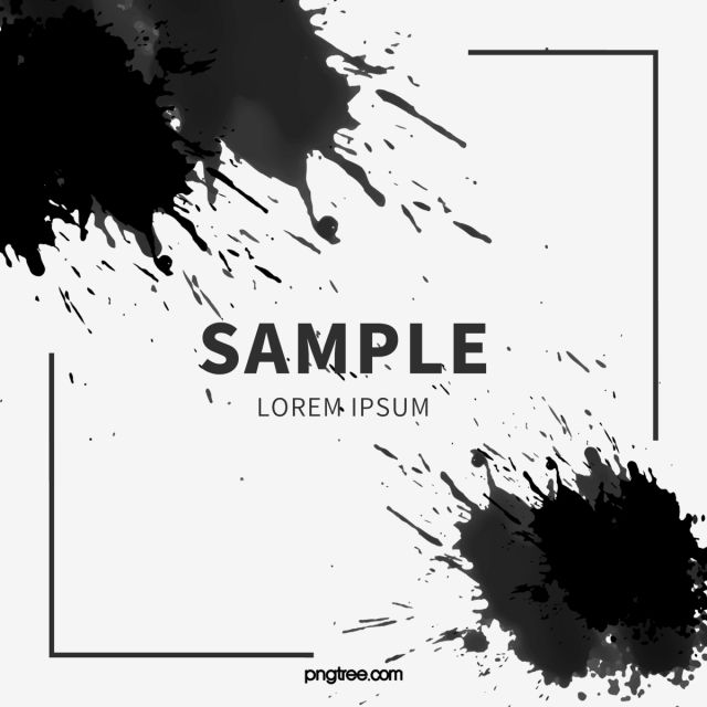 Ink Splash Black Border Brush Bloom Ink Mark Png Transparent