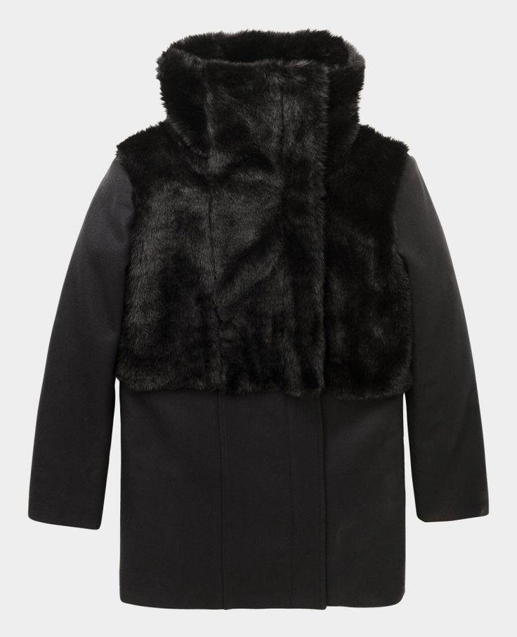 Coat with fur insert; kooples