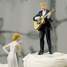 Figurine gateau mariage rock n roll