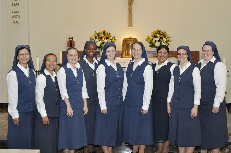 Newly professed Sister Carly Paula and Sister Chelsea Bethany sharing their joy with the other Junior Professed Sisters