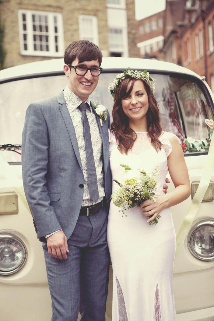 A Reclaimed, Relaxed & Fun London Wedding: Caroline & Lewis