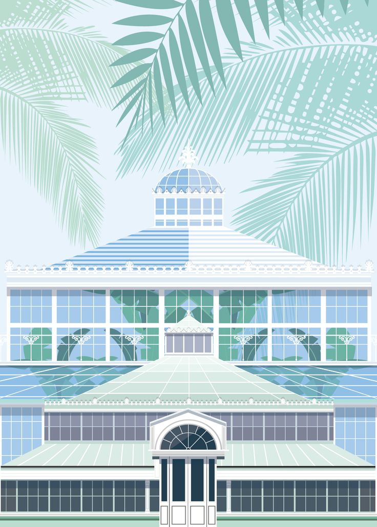 Botanical Gardens Copenhagen illustrated by #Sivellink