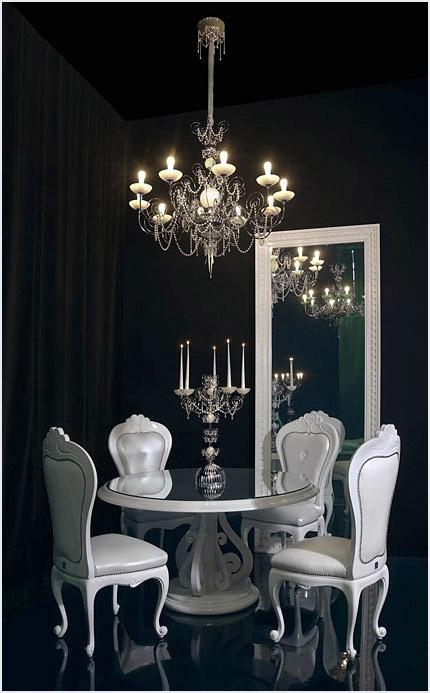Luxury home design ♧ black dining room