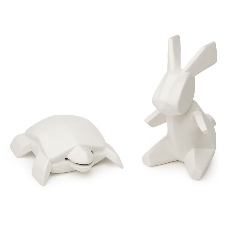 PORCELAIN TORTOISE AND HARE BANKS | Piggy Bank, Coin Bank, Rabbit, Turtle | UncommonGoods