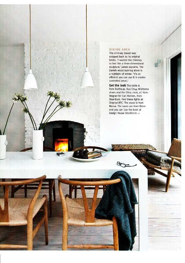 Take A Tour Around Family Friendly Victorian Terrace In East London The Chimney Breast This Chic White Dining Room Has Been Stripped Back To