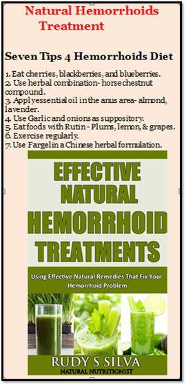 Information about an e-book on a Natural Hemorrhoids diet.