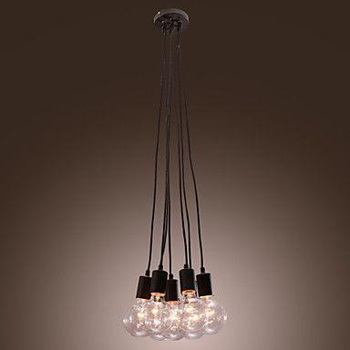 Lámpara de Techo Estilo Minimalista con 7 Luces 40W E27 – MXN $ 1,233.75