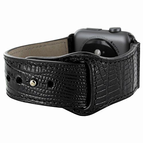 Piel Frama Armband Case for Apple Watch 42 mm - Lizard Black. Fits wrists between 15-20cm in diameter. Introducing the Piel Frama Apple Watch leather wrist strap. This beautiful high quality leather strap will add style and elegance to your new Apple Watch.