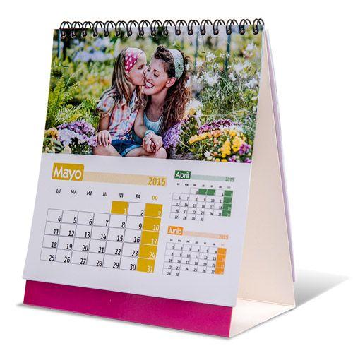Calendario de sobremesa con una foto por cada mes cuadrado o rectangular distintos dise os - Calendario da tavolo con foto proprie ...