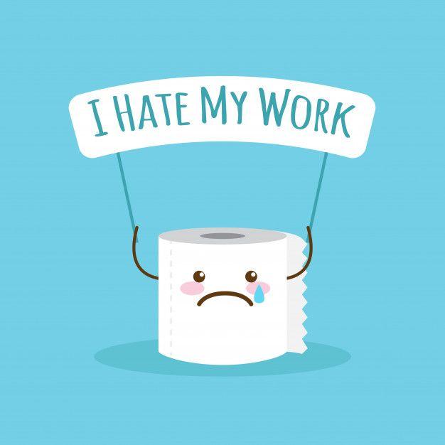 Papel Higienico De Dibujos Animados Con Cita Sobre El Trabajo