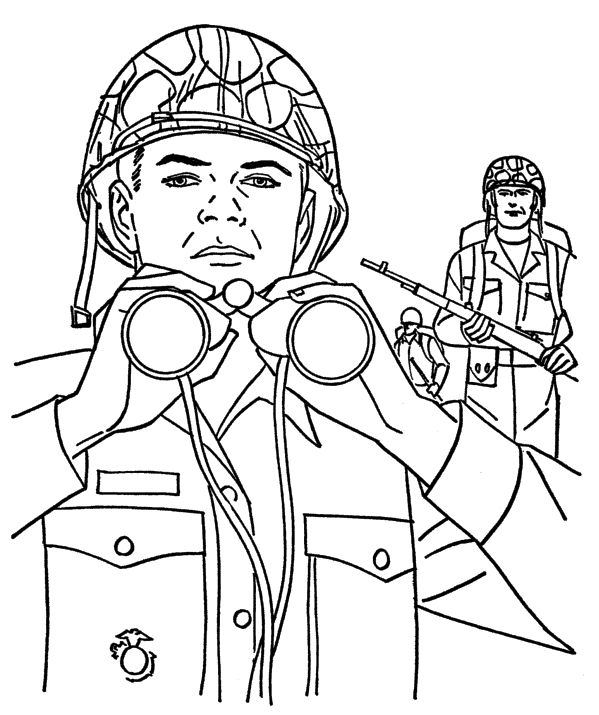 Marines And Army Veterans Coloring Pages | Танк