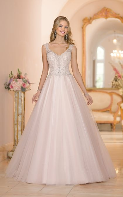 Tulle A-Line Wedding Gown