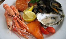 A plate of finest Scottish seafood:  http://www.skene-house.co.uk/aberdeen_guide/restaurants_and_bars