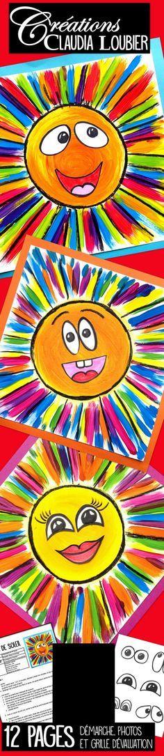 Voici ma façon d'initier les enfants aux mélanges de couleurs. Avec ce projet simple, les enfants apprennent comment créer les couleurs secondaires à partir des couleurs primaires. Pour les élèves du préscolaire et du premier cycle. J'ai dessiné des exemples de yeux et de bouches pour les plus petits. Vous pouvez vous en inspirer ou tout simplement les utiliser pour le collage. Mettez du soleil dans votre classe !