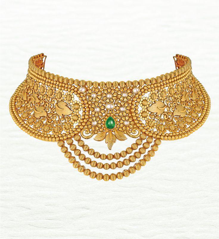 Azva Modern Handcrafted Gold Choker Goldjewellery Luxury Style