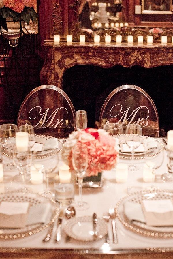 Wedding para cadeiras transparentes