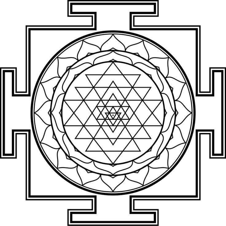sri yantra outline - Google Search