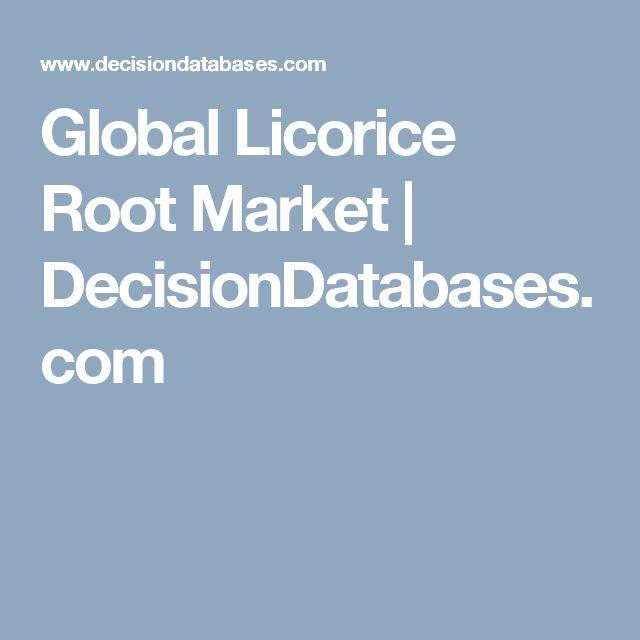 Global Licorice Root Market | DecisionDatabases.com