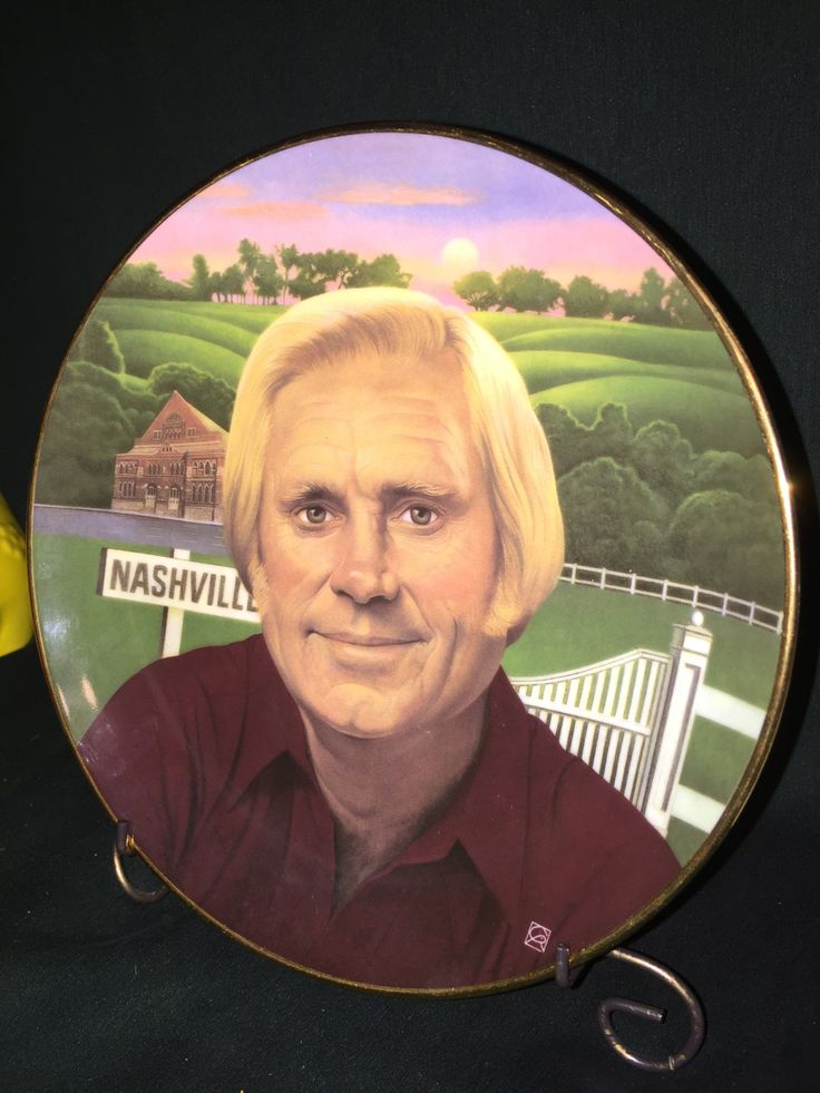 Legends of Country collection presents: George Jones on this Gorgeous Plate; Country Music Association; Country Music Singer; Nashville star by Pamsplunder on Etsy
