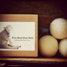 Set of 3 Canadian Made Merino Wool Dryer Balls : P'LOVERS
