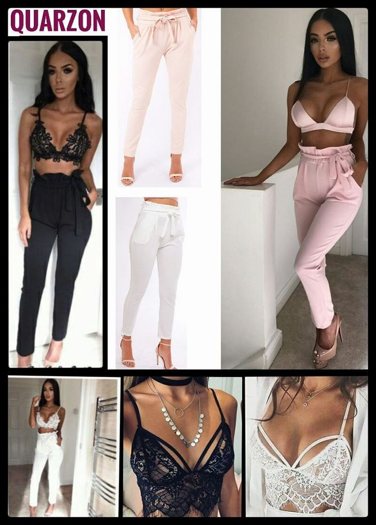 Pantalón alto de cintura. Tres colores a elegir. Tallas en stock S/M/L  bralette de encaje. Dos colores a elegir. Tallas: S/M/L  Visita nuestra web  quarzon.com  tienda online de moda femenina. Profesionales, hacemos envíos. Puedes seguirnos en instagram, Pinterest, Twitter o 21buttons: @quarzon__style #moda #mujer #ropa #woman #jeans #top #girl #pantalon #beautiful #comprasonline #shopping #love #dress #happy #bags #compras #shoes #zapatos #fundas #lenceria #bolsos