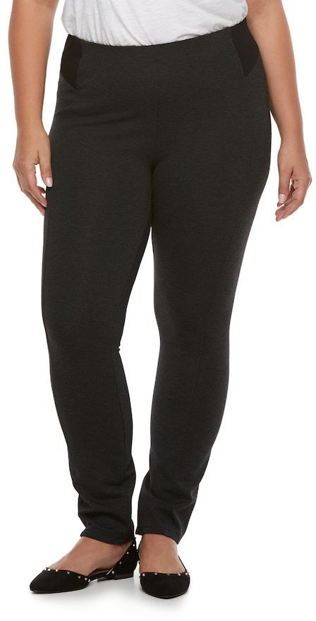 11af438f783 JLO by Jennifer Lopez Plus Size High Waisted Ponte Leggings