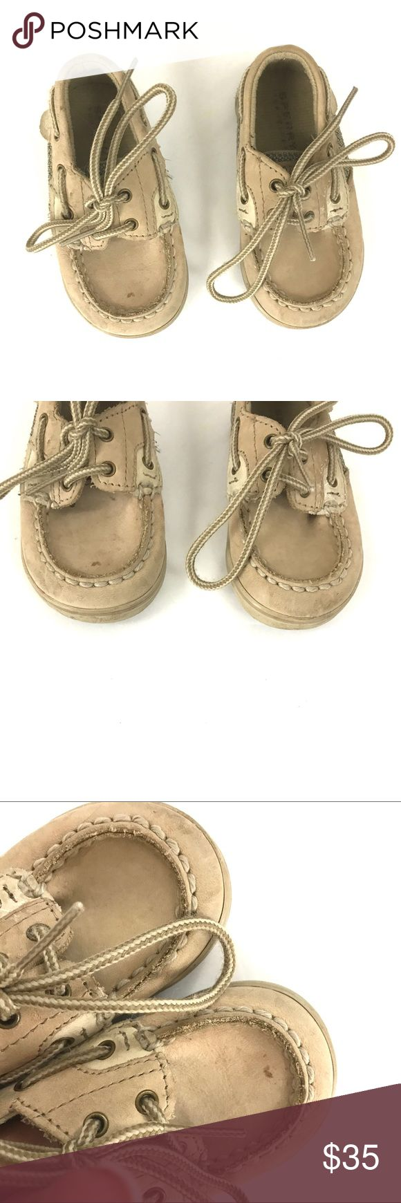 Baby sperry top sider brown boat shoes Classic style. Baby shoes. Size 3. Light wear to the overall shoe. Sperry Top-Sider Shoes Baby & Walker
