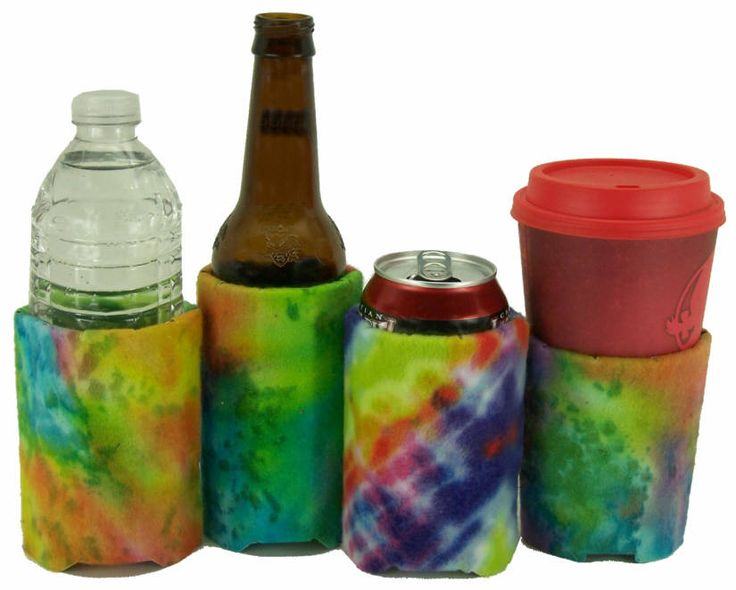 EcoFriendly Beverage Insulator Rainbow Tie Dye PocketHuggie-Cold/Hot Starbucks Cup, Soda,Solo Cup,Beer,Reusable,Folds,3 SIZES:Cup/Can/Bottle by PocketHuggie on Etsy