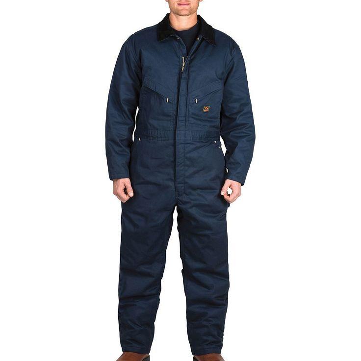 Men's Walls Zero-Zone Twill Insulated Coverall, Size: Xx Lrg Sh, Dark Blue