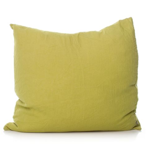 Linen Cushion - Large Chartreuse