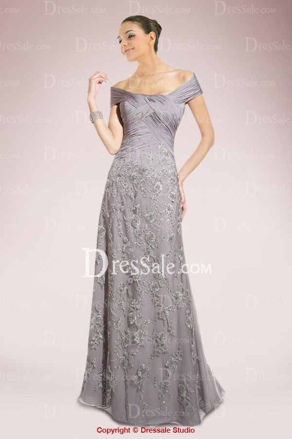Glamorous A-line Mother of the Bride Dress with Exquisite Appliques