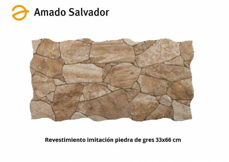 Revestimiento imitaci n piedra tierra 33 2x66 4 cm gres - Amado salvador ...