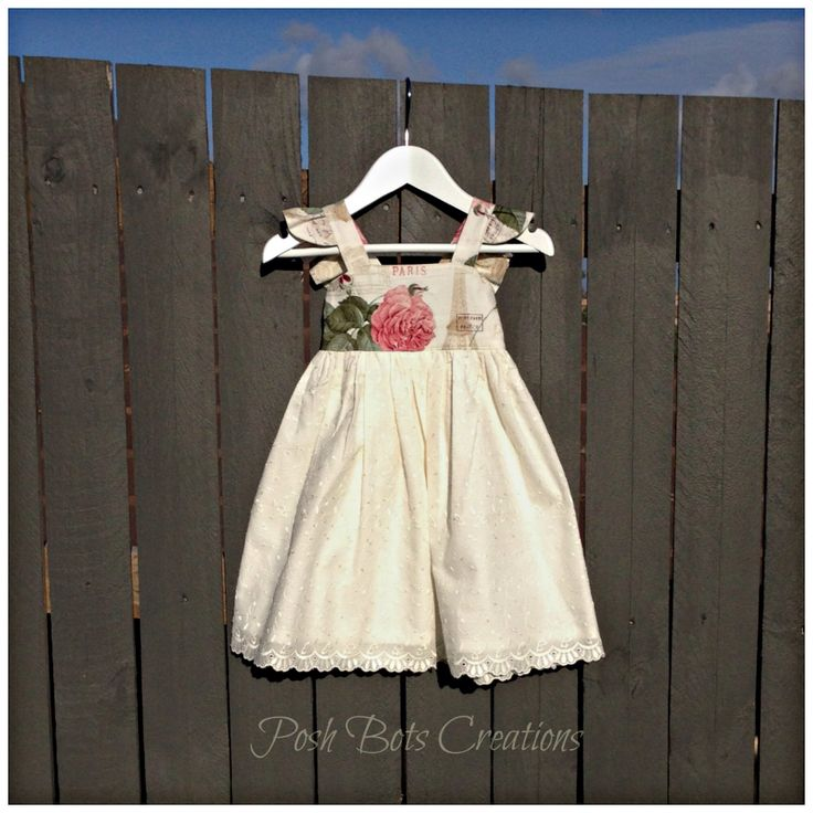 The Almost Famous Dress Another version of this dress with a romantic eyelet skirt. Available in sizes NB - 10  #handmadeclothes #babyclothes #girlsclothes #girlsdress #whimsycouture #almostfamousdress