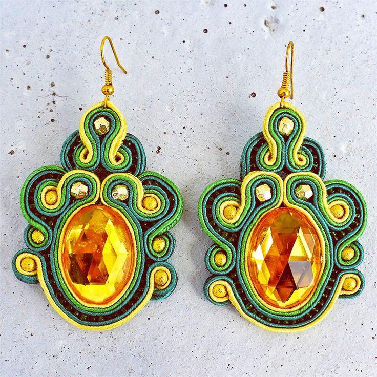 Handmade ZuzDesign soutache earings Olive http://femmefashion.sk/zuz-design/2370-nausnice-olive.html
