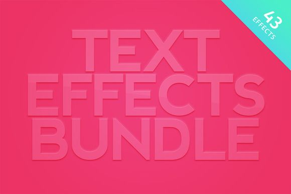 Text Effects Bundle for Photoshop by Medialoot on @creativemarket