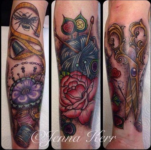 Tesoura, fio, fita http://tatuagens247.blogspot.com/2016/08/belo-costura-e-de-confeccao-de-desenhos.html