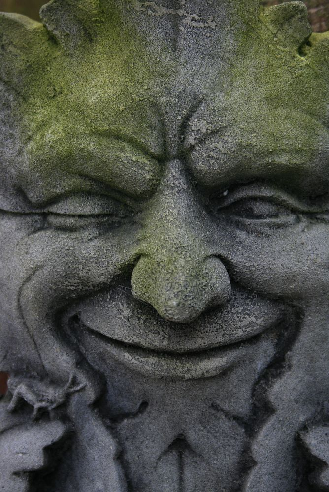 Green Man...He welcomes kindly visitors at our garden gate...