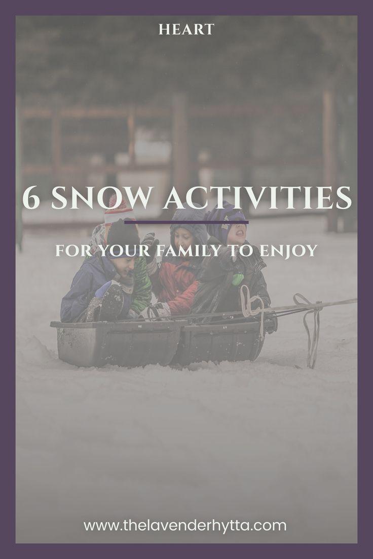 Snow | Snow Activities | Heart | Family | Family Activities | Fun in the Snow | Winter | Kids | Family | via /lavenderhytta/