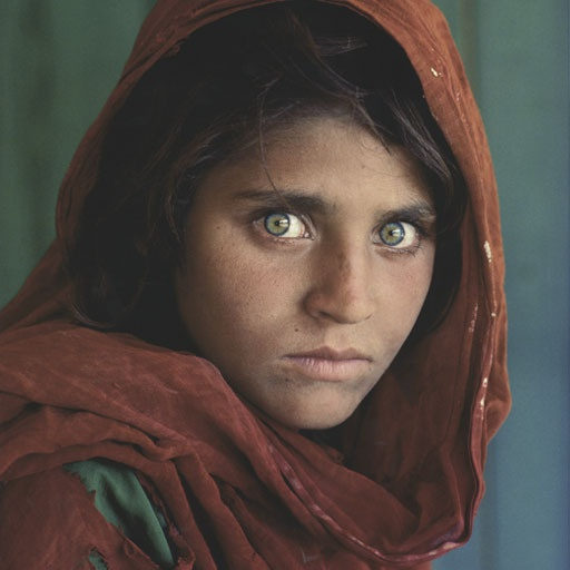 "An all time classic image. Simply referred to as ""Afghan Girl"", this"