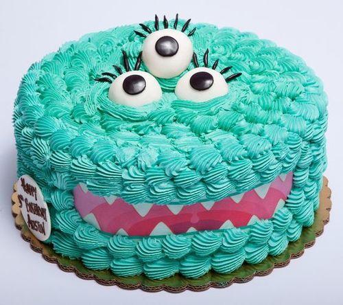 Gâteau monstre rigolo bleu : poche à douille / La Folie Des Fêtes