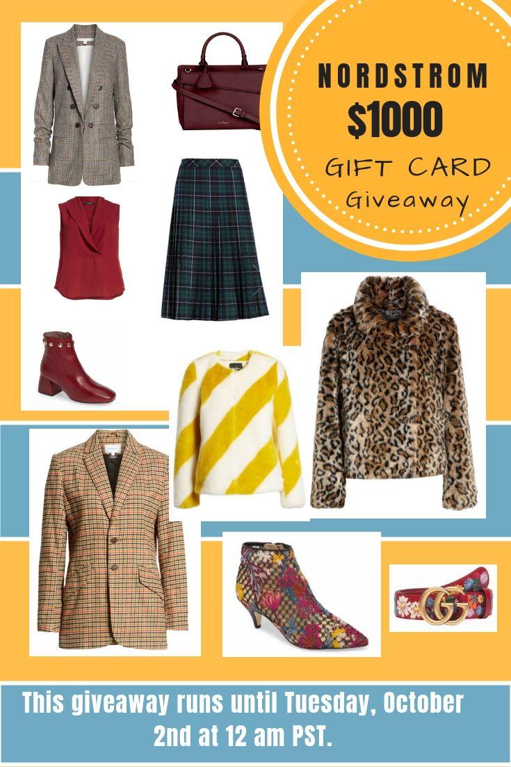 Nordstrom Fall Picks    1000 Gift Card Giveaway  b823b966c0