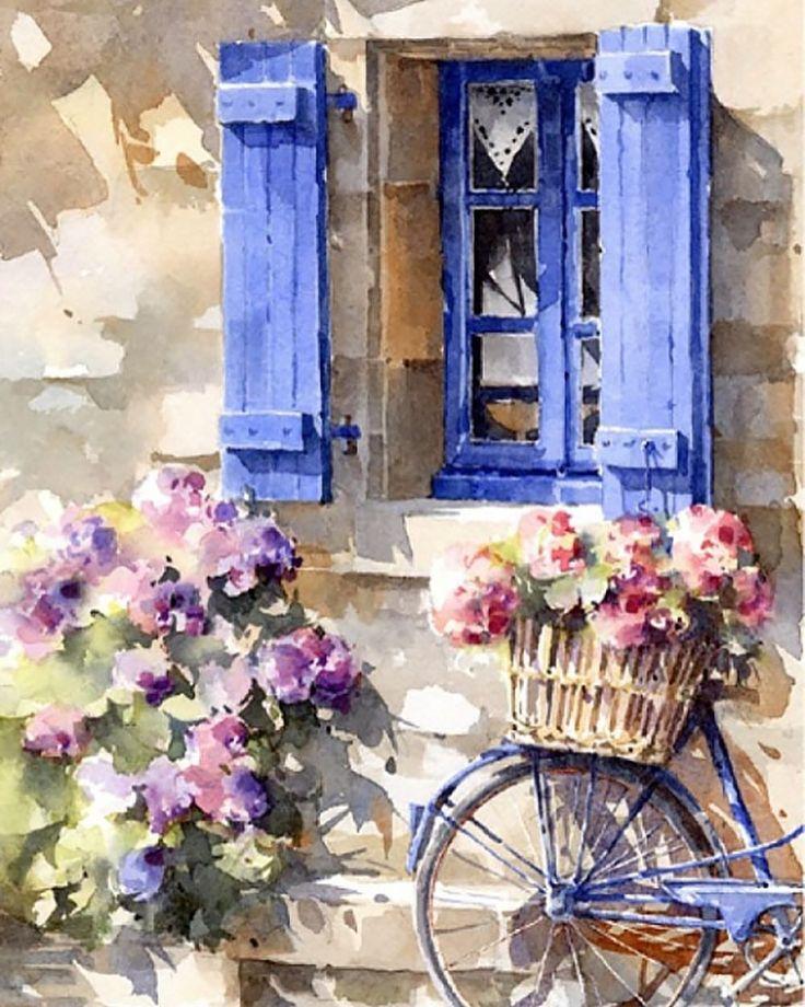 "710 Likes, 4 Comments - TimeToArt (@timetoart.ru) on Instagram: ""Painting by renowned watercolor artist Christian Graniou, France. Картина известного акварелиста…"""